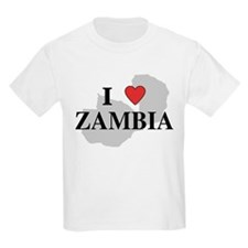 I Love Zambia Kids T-Shirt