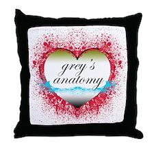 Heart Grey's Anatomy T-Shirts Throw Pillow