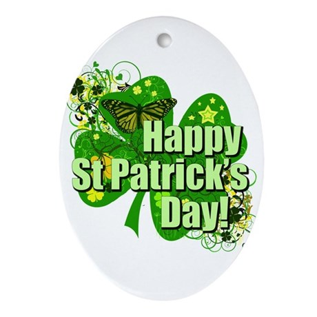 Happy St. Patrick's Day! Ornament (Oval)