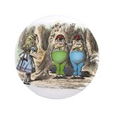 "Tweedledum and Tweedledee 3.5"" Button"
