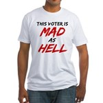 MAD AS HELL b Fitted T-Shirt
