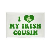 I Love My Irish Cousin Rectangle Magnet