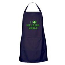 I Love My Irish Uncle Apron (dark)
