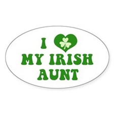 I Love My Irish Aunt Decal
