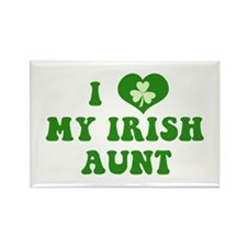 I Love My Irish Aunt Rectangle Magnet