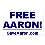 """FREE AARON!"" Sticker (Rectangle 10 pk"