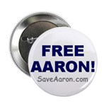 """FREE AARON!"" 2.25"" Button (10 pa"