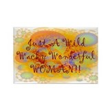 Wild Wacky Woman Rectangle Magnet