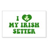I Love My Irish Setter Decal
