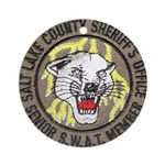 Salt Lake County SWAT Ornament (Round)
