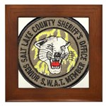 Salt Lake County SWAT Framed Tile