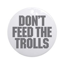 Feed Trolls Ornament (Round)