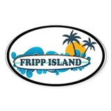 Fripp Island SC - Surf Design Decal