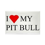 Cute Pittbull Rectangle Magnet