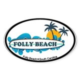 Folly Beach SC - Surf Design Decal
