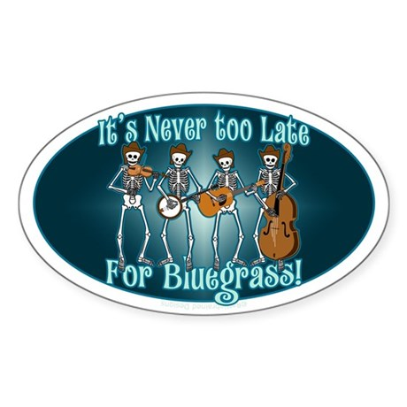 Bluegrass Beyond Sticker (Oval 10 pk)