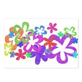 Sparkle Flower Postcards (Package of 8)
