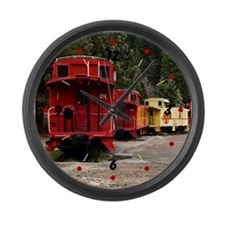 Caboose Line Large Wall Clock