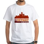 Detroit Is For Lovers White T-Shirt