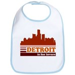 Detroit Is For Lovers Bib