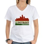 Detroit Is For Lovers Women's V-Neck T-Shirt