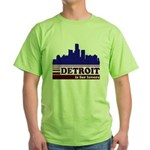 Detroit Is For Lovers Green T-Shirt