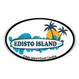 Edisto Island SC - Surf Design Decal