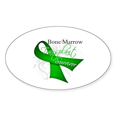 Ribbon BMT Survivor Sticker (Oval 10 pk)
