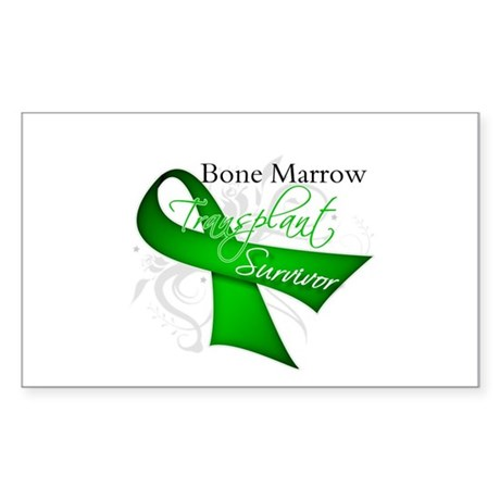 Ribbon BMT Survivor Sticker (Rectangle 50 pk)