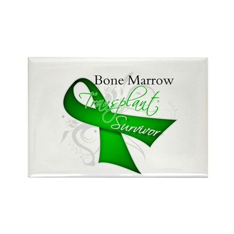 Ribbon BMT Survivor Rectangle Magnet