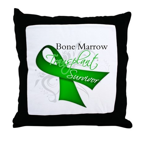 Ribbon BMT Survivor Throw Pillow
