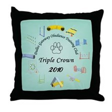 Triple Crown teal Throw Pillow