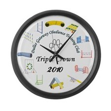 Triple Crown white Large Wall Clock