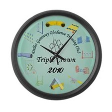 Triple Crown teal Large Wall Clock