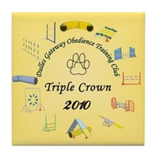 Triple Crown yellow Tile Coaster