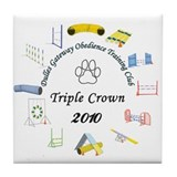 Triple Crown white Tile Coaster