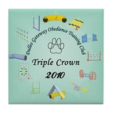 Triple Crown teal Tile Coaster