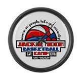 Jackie Moon Basketball Camp Large Wall Clock