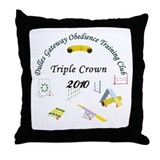 Triple Crown white v2 Throw Pillow