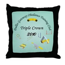 Triple Crown teal v2 Throw Pillow