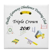 Triple Crown white v2 Tile Coaster