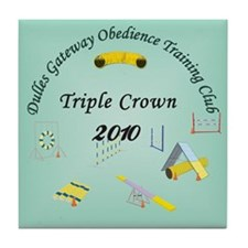 Triple Crown teal v2 Tile Coaster