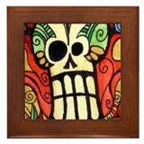 Day of the Dead Sugar Skull 1 Framed Tile