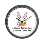 Some Bunny In Arizona Loves Me Wall Clock