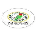 Parrot Oval Sticker