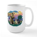 St. Francis #2 / Two Labradors Large Mug