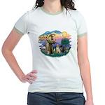 St. Francis #2 / Two Labradors Jr. Ringer T-Shirt