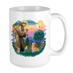 St Francis #2 / Welsh Corgi (P-7b) Large Mug