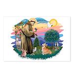 St Francis #2 / Welsh Corgi (P-7b) Postcards (Pack