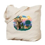 St Francis #2 / Welsh Corgi (P-7b) Tote Bag